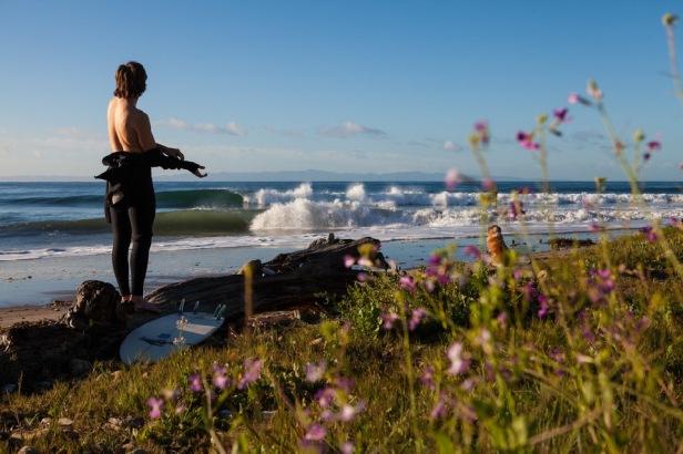 Trevor Gordon surfing Hammonds in Santa Barbara.